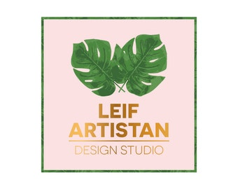 Pre-Made Logo Ready to Add Your Company Name - Style - Leif Artisan