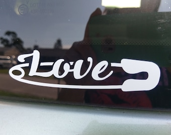Love Safety Pin decal