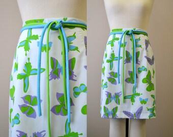 1970s Vested Gentress Butterfly Skirt