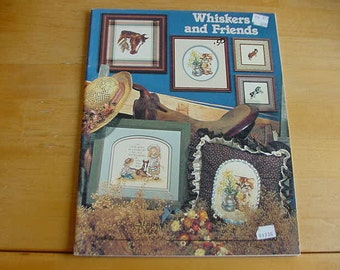 Vintage 1986 Whiskers and Friends, Stoney Creek, Book 32, Cross Stitch, Instructions, Animals, Kids, Cats, Horses, Adorable