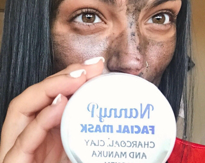 Charcoal Face Mask With Clay, Manuka Honey - CERTIFIED AROMATHERAPIST