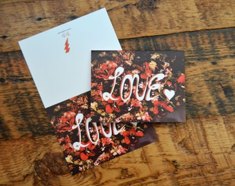 Thank You & Love gift cards. Pack of 4