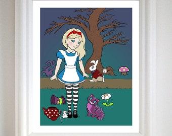 Alice in Wonderland - Art Print