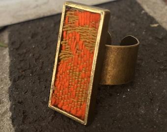 Vintage fabric ring