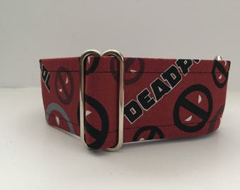 Deadpool Martingale Dog Collar Marvel