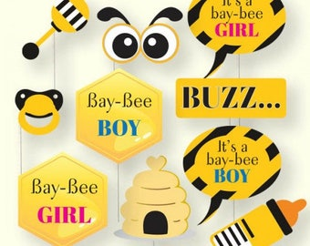 Bumble Bee Baby Shower Photo Booth Props