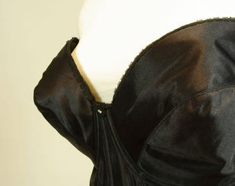 48DD Silky Black Bustier Plus Size Carnival Brand Corset