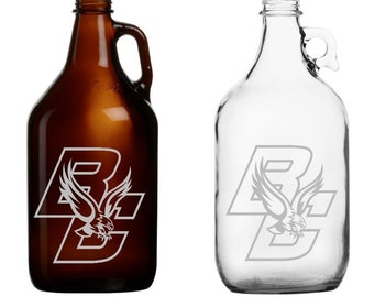 Boston College -  Beer Mug - Pint Glass - Growler - Etched - Eagles - BC