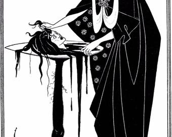 Aubrey Beardsley Salomé- A Tragedy in One Act 1872 1898 Art Print Picture A4