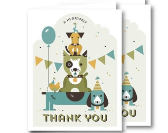 Thank You Card, Birthday Party // PUPPY PARTY
