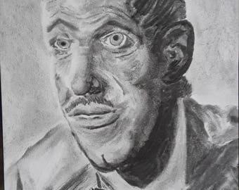 Original Charcoal Portrait Convict Series #1