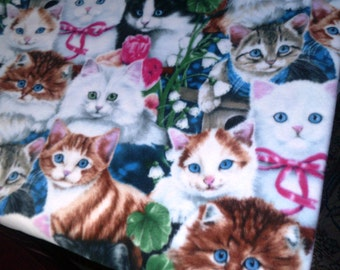 Kittens Cats Fleece Throw