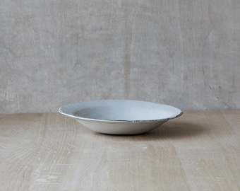 Ceramic Serving Bowl,White Pottery bowl,Handmade Pottery,Ceramic plate,Rustic Dinnerware,Dinner plate,Rustic Bowl,Pasta Bowl, pottery Gift