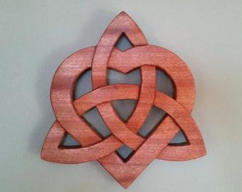 Celtic Heart Wood Trivet