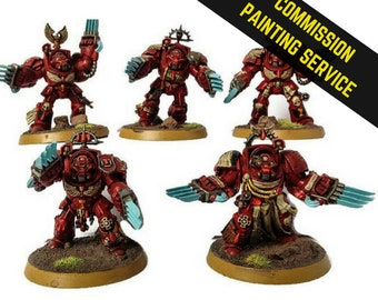Commission Painting Services, Terminator Squad, Warhammer, Space Marines, 40k, Wargaming, RPG, Warhammer, Wargaming Models