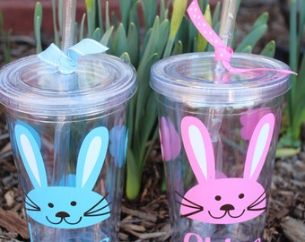"Personalized ""Easter Rabbit"" Kids Tumbler - 12 oz."