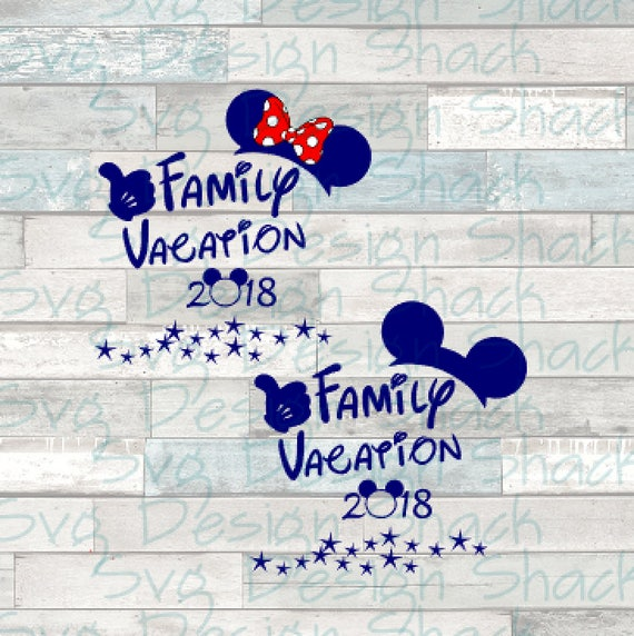 Disney Family Vacation 2018 SVG DXF EPS Studio 3 Png