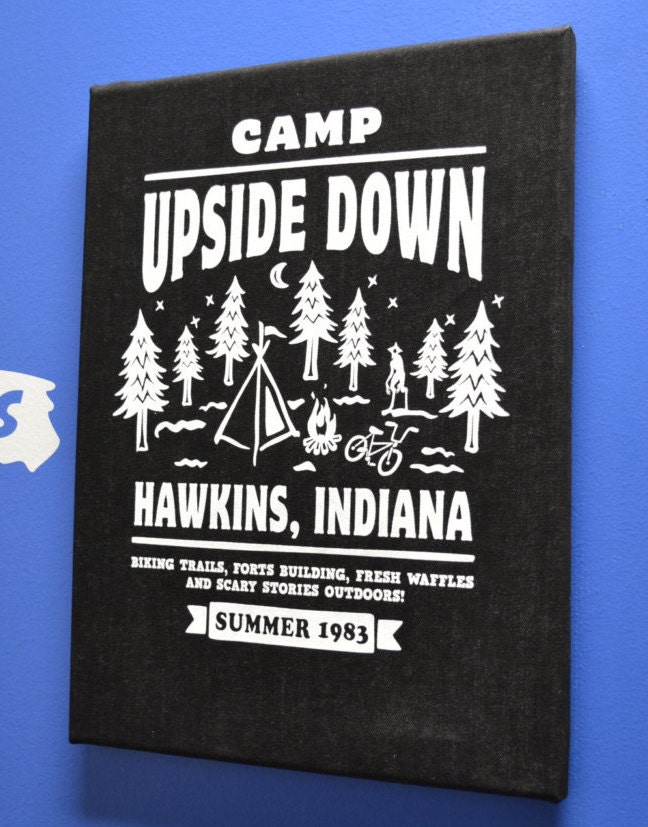 2ffbca5fd2072 Stranger Things Poster Canvas Print Camp Upside Down