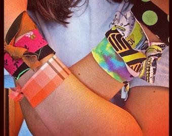 OBX SandyBANDS - Twenty Hair Ties -  Funky Fun - No Slip Grip - Pony Tails - Braids