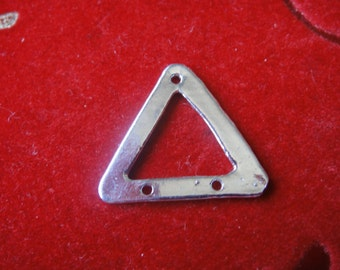 925 sterling silver triangle charm, connector,silver triangle connector, silver connector,triangle connector, silver triangle