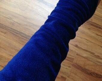 Belly Dance gauntlets Blue Velvet