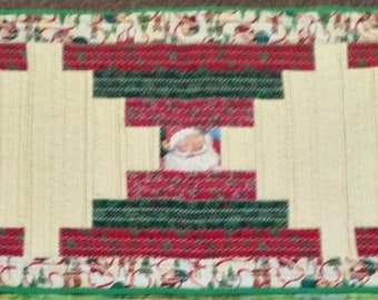 "Christmas and Winter (Snowmen) Double Sided Cotton Theory Table Run, 18""w by 54'l"