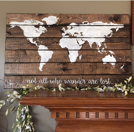 Monde carte palette monde panneau en bois explorer la carte