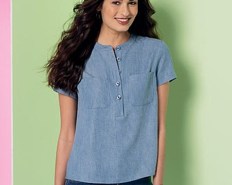 McCall's Sewing Pattern M7360 Misses' Henley Tops