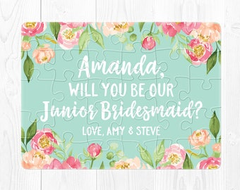 Junior Bridesmaid Puzzle Proposal Junior Bridesmaid Proposal Will You Be Our Junior Bridesmaid Will You Be My Junior Bridesmaid Gift Cute