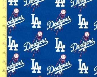 """NLB LA Dodgers Fabric, Los Angeles Dodgers Logo Fabric, 60"""" width Dodgers 100% Cotton Fabric by the Yard"""