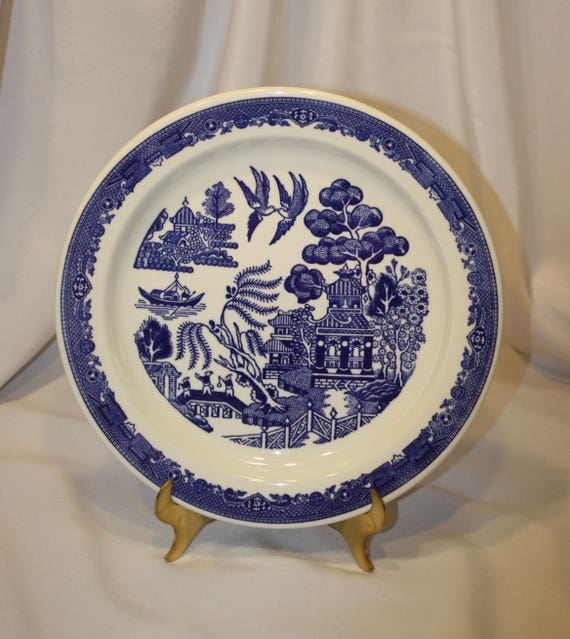 Blue Willow Heavy Restaurant Plate Made by Buffalo China USA