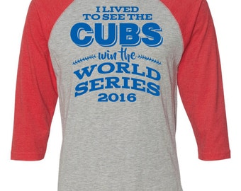 CUBS WORLD SERIES Tshirts! Go Cubs Go!