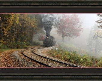 Steam Engine Photo 18x42 Inch Cass Scenic Railroad Archivable Print