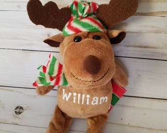 Personalized Reindeer Plush