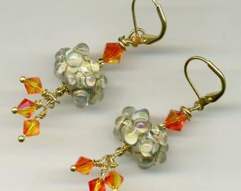"-30% earrings artisan ""rash on glacier"""