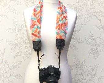 Bright Abstract Camera Scarf Strap, DSLR Scarf Strap, Abstract Scarf Strap, Photographer Gift, Camera Accessory