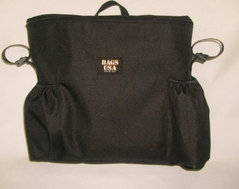 Wheelchair Bag with Cell phone and water bottle Holder,Quite Roomy Made in U.S.A