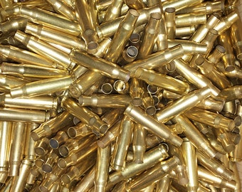 308/7.62 NATO Once Fired Military Brass – Cleaned, Shined or Unprocessed - Qty: 500