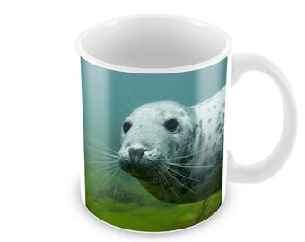 Grey Seal  Ceramic Coffee Mug    Free Personalisation