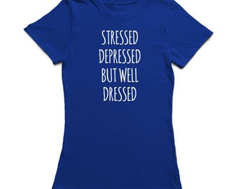 Sad Girl Graphic Quote Women's T-shirt
