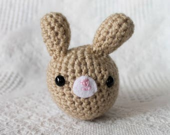 Brown Bunny Plush, Amigurumi Rabbit Plush