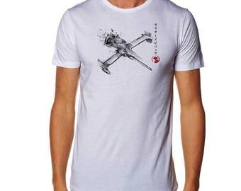Mono Racer Sumi-e T-shirt - Cowboy Bebop Shirt - Spike Spiegel t Shirt - Swordfish tshirt - Manga Shirt - Anime Shirt - Jet Black T shirt