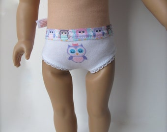 "Owl Doll Panties For 18"" Dolls"
