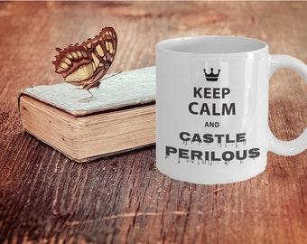 Bookworm Mug - a booklover gift  (Keep Calm and Castle Perilous)
