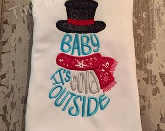 Baby Its cold outside Embroidered Shirt