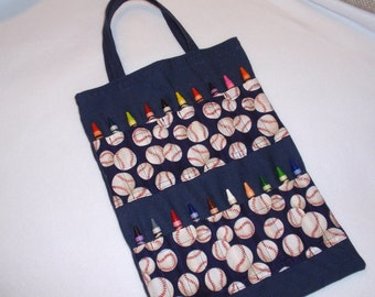 Baseball Crayon Tote Bag