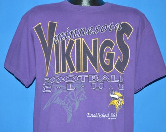 90s Minnesota Vikings Football Club t-shirt Large