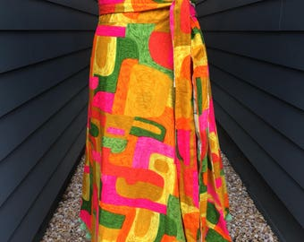 1970s Reversible Wrap Skirt