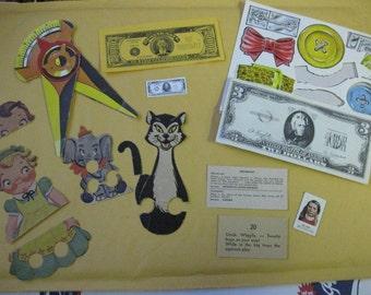 Large Vintage Paper Ephemera Supplies Altered Art Collage Lot SALE