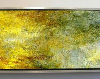 Reflection on Water, Extra Large Abstract Oil Painting, Colorful Artwork, Wall Art, Large Wall Decor, Home Decor, Office Decor